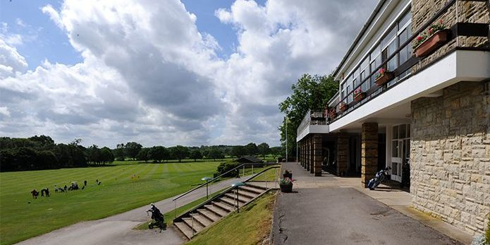 Betchworth Park club house overlooking the golf course