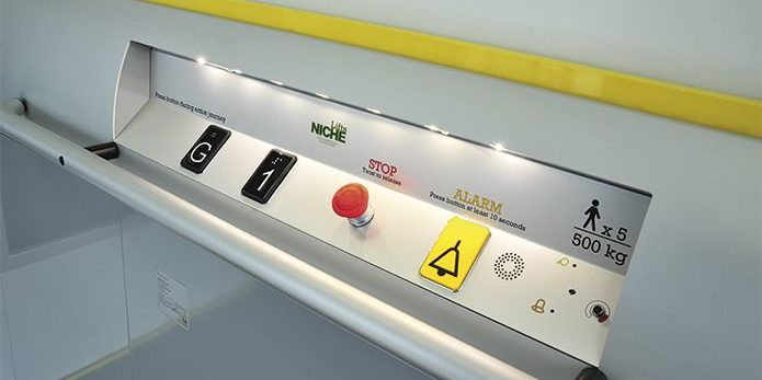 Fastlane Turnstiles enclosed platform lift controls