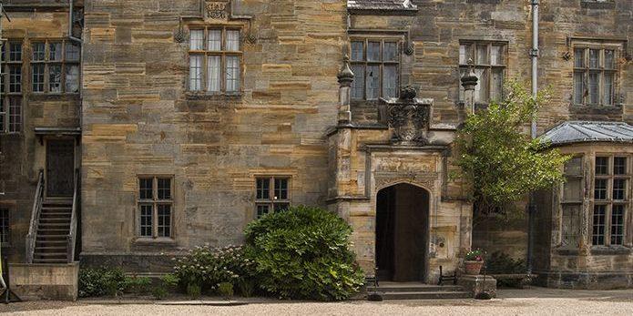 Front view of Scotney Castle entrance