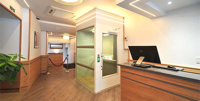 Platform lift used in a hospitality environment