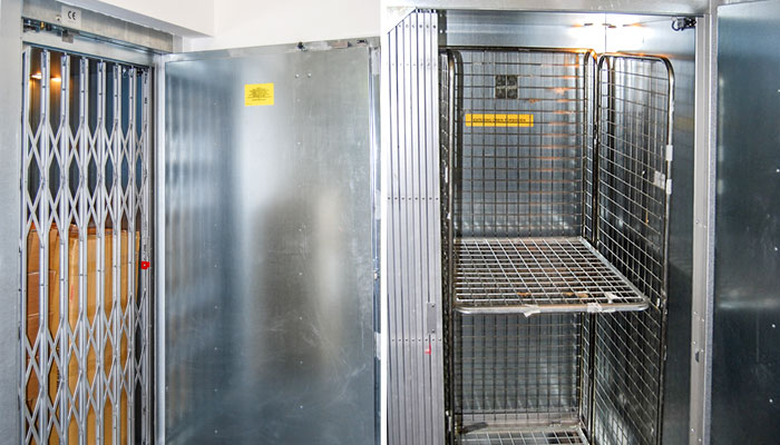 Goods lift with 1000kg load capacity